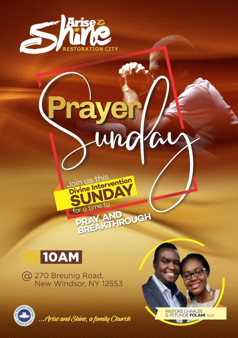 Prayer Sunday – Arise and Shine Restoration City